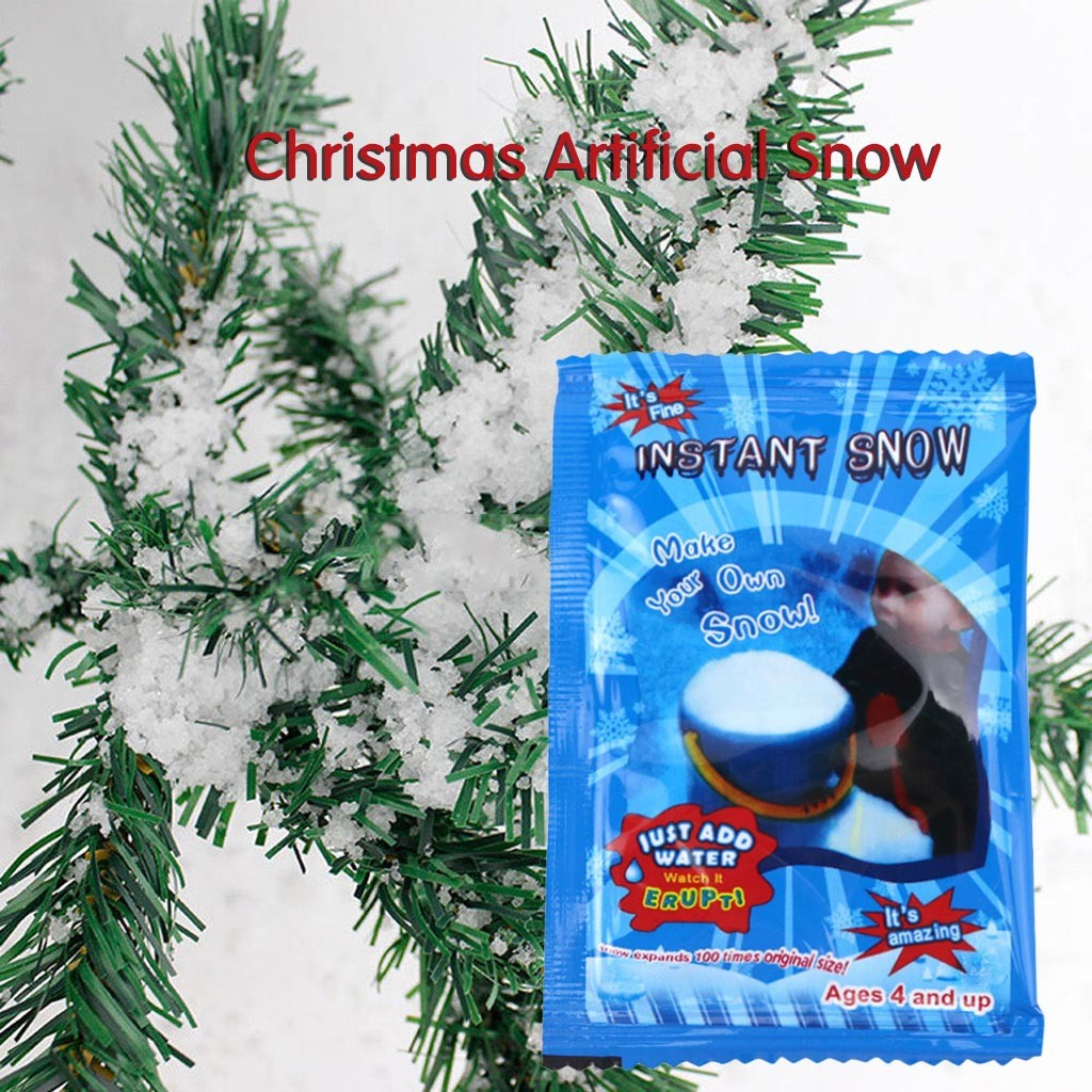 Christmas Decoration Artificial Plastic Dry Snow Decor DIY Instant Artificial Pretend Fake Instant-Snow Snow Scene Props Supply