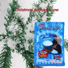 Christmas Decoration Artificial Plastic Dry Snow Decor DIY Instant Artificial Pretend Fake Instant-Snow Snow Scene Props Supply(China)