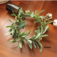 Haimeikang Olive leaf  Flower rattan headband female Women girls party supplies Hair Accessories props headwear Wreath цена и фото