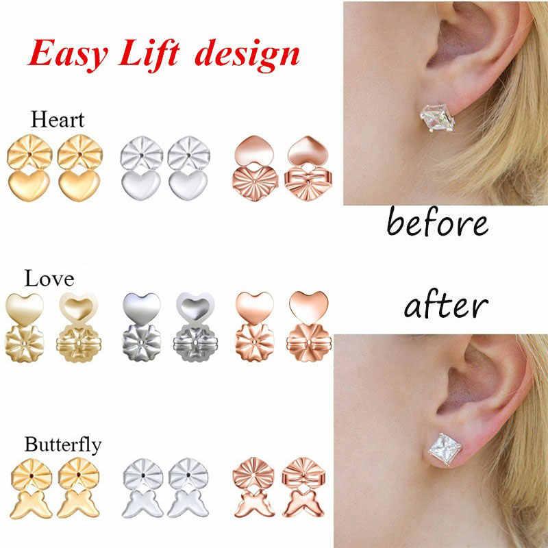 Sollevatore orecchino ipoallergenico alla moda Adatto a tutti gli orecchini a bottone Orecchini a lobo Dorso Lift Lift supporto per le donne Accessori orecchini