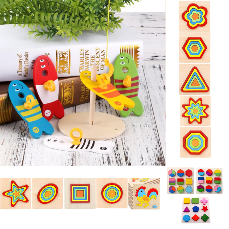 Colorful Wooden Montessori Puzzle Shape Toys Kids Geometric Sorting Column Bricks Children Early Educational Shape Sorting Toy(China)