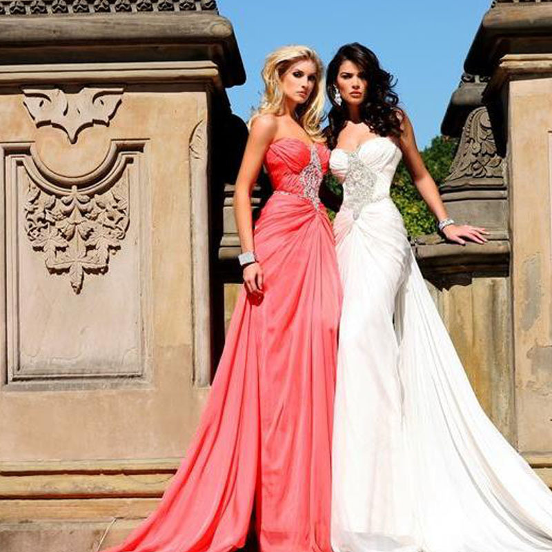 2018 Fashion Sweetheart Beaded Sleeveless Floor Length Mermaid Prom Party Gown With Train Off The Shoulder Bridesmaid Dresses
