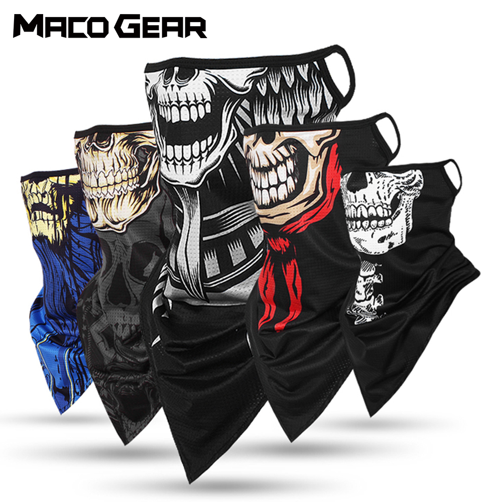 Skull Cycling Bandana Triangle Scarf Multifunctional Sport Hiking Hunting Hanging Ear Running Face Neck Cover Warmer Cover 2020