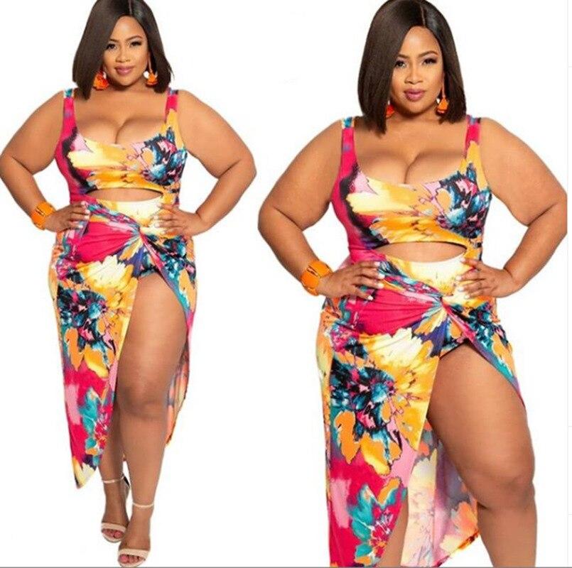 2019 New Style One-piece Plus-size Printed Bikini Beach Sexy Swimsuit