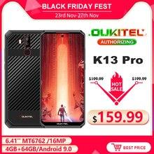 Oukitel K13プロ6.41 11000mah 4ギガバイト64ギガバイトスマートフォンMT6762オクタコアのandroid 9.0 nfc携帯電話顔id 5v/6A高速充電