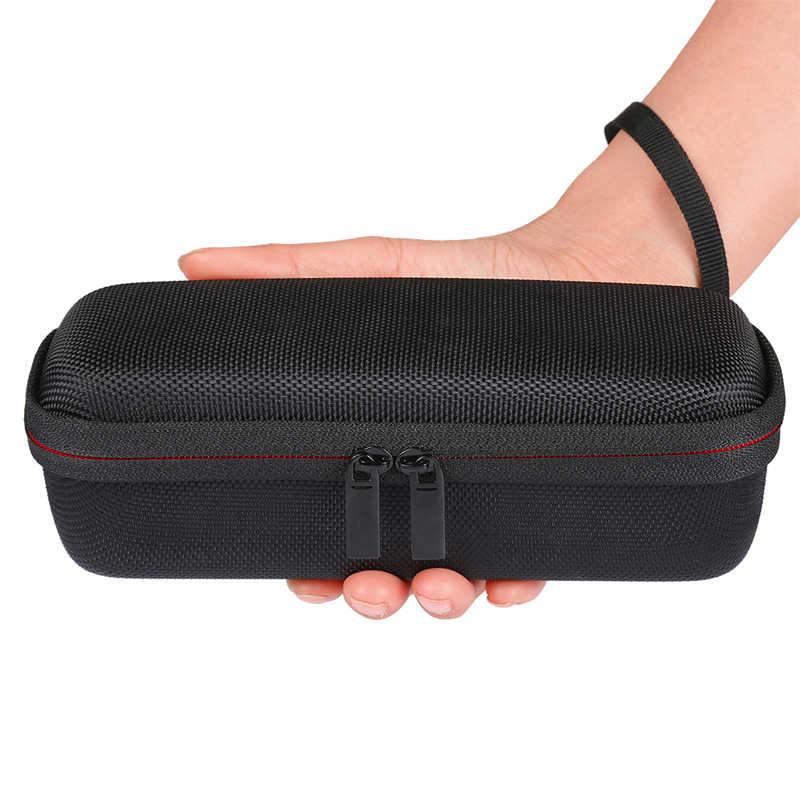 Tragbare Drahtlose Bluetooth EVA Lautsprecher Fall Für Anker SoundCore 2 Mit Mesh Dual Tasche Audio Kabel Durchführung Reisetasche- schwarz