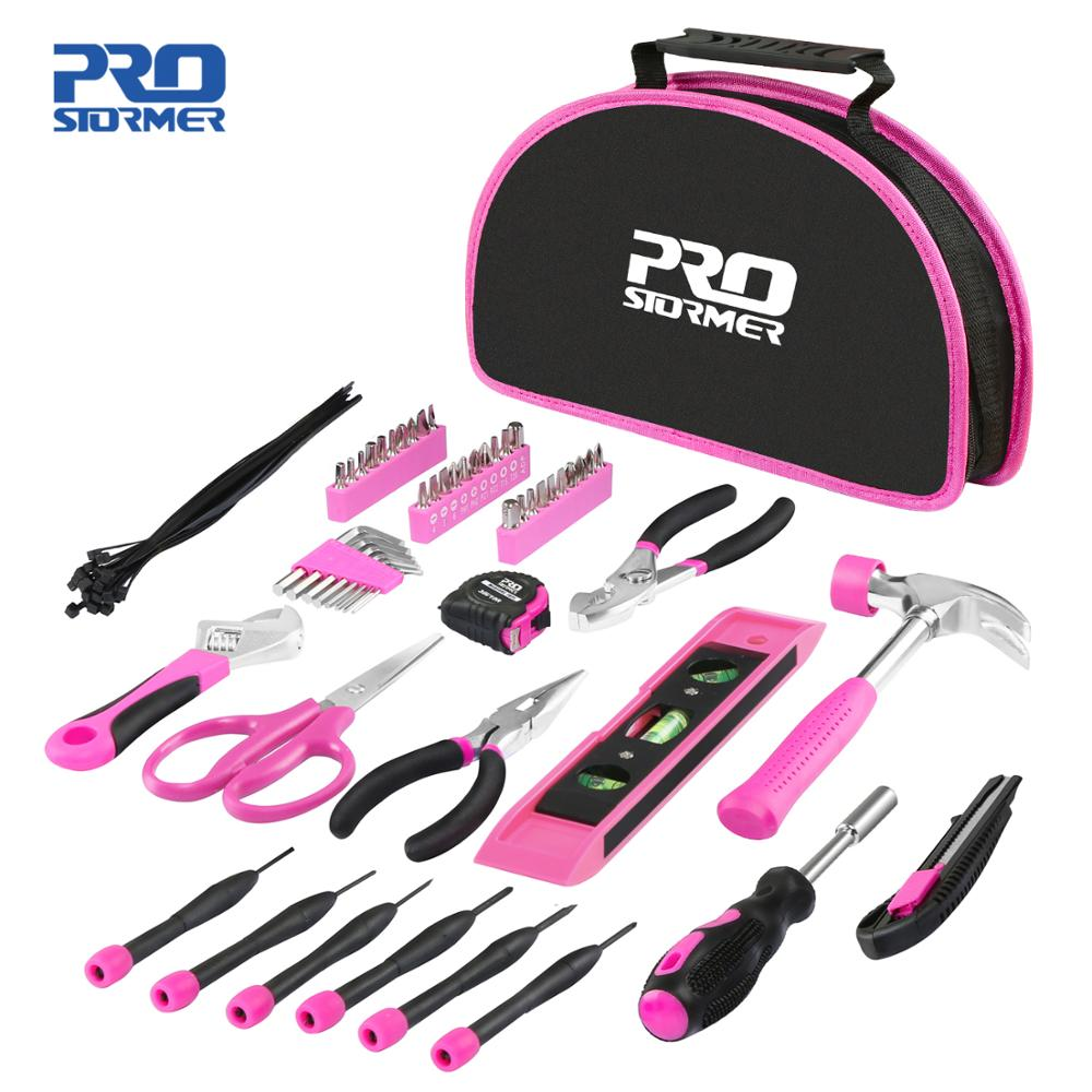 69PCS Hand Tool Sets Household Home Repair Tool Screwdiver Scissors Kit with Portable Tools Bag By PROSTORMER