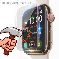 Screen Protector Für Apple Uhr Serie 5 4 44mm 40mm Iwatch 3 band 42 38 Weichen Film abdeckung 9D Anti Shock Schutz Volle Abdeckung|null|Uhren -