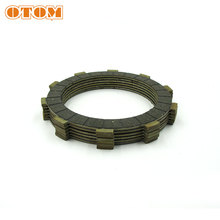 OTOM Complete Clutch Disc ( 6 PCS) Motorcycle Friction Plates Kit Sit Clutch Plates For HONDA AX-1 NX250 Dirt Bike Engine Parts