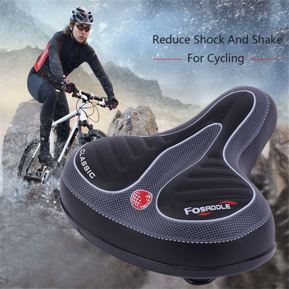 Comfort Wide Big Bum Bike Bicycle Extra Sporty Pad Hollow Saddle Cushion Seat