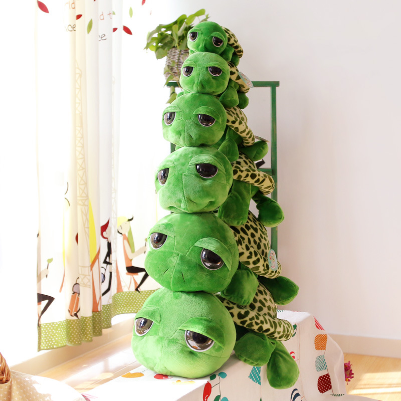 <font><b>DX</b></font> Bigeye Turtle Plush <font><b>Toys</b></font> Children Gift Doll Customizable image