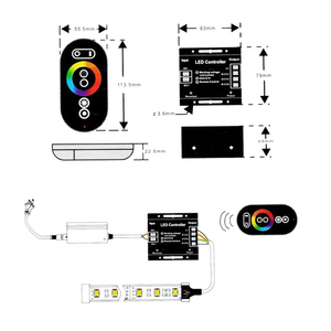 Image 5 - Led Controller 12 24V Touch Afstandsbediening Rgb Controller 24A 3 Kanaals Led Strip Licht Rf Controle Voor SMD5050 3528 Rgb Led Tape