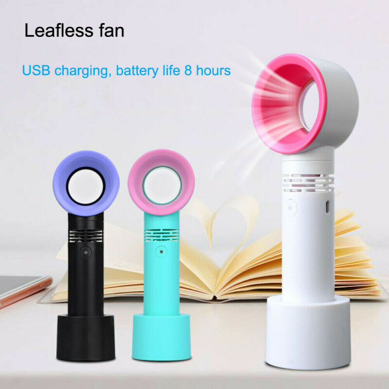 Mini Fan Ventilator Handheld Bladeless Fan Air Cooler USB Rechargeable With LED Ligth Display Portable Cooler Fan For Outdoor
