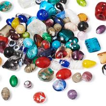 500g/bag Mixed Color Lampwork Glass Beads Handmade beads for jewelry DIY making Crafts ,11~29x11~25x11~15mm Hole: 0.5~4mm F80