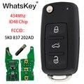WhatsKey 3 кнопки дистанционного ключа автомобиля для Volkswagen VW Caddy Beetle Jetta для EOS Passat Golf Polo 5K0837202AD 5K0 837 202 AD