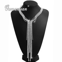 Fashion personality lady necklace crystal Rhinestones high end wedding party ladies clothing accessories gift hot X020