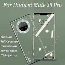 화웨이 메이트 30 프로 풀 커버에 대한 3d 전체 접착제 곡선 강화 유리 메이트 30 mate30 프로에 대한 9 h 보호 필름 화면 보호기