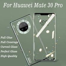Pegamento 3D curvo de vidrio templado para Huawei Mate 30 Pro, cubierta completa, película protectora 9H, Protector de pantalla para Mate 30 Mate30 Pro