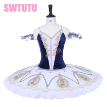 Newest Women navy blue nutcracker performance tutu dress girls custom made professional platter pancake child BT9205