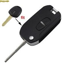 цена на jingyuqin Modified 2 Button Remote Car Key Shell for Mitsubishi Lancer Grandis Evolution Outlander Key Case Fob Right/Left Blade