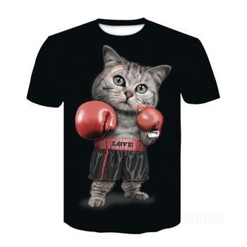 Cat Ragdoll Short Sleeve T-Shirt Half Sleeve 3D Printed T-Shirt Tops Men Women Kids Pet T-shirt Asian Size 6XL 1