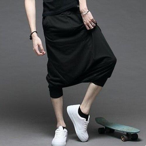 Korean-style Men'S Wear WeChat Free-Men's Low Crotch Capri Pants