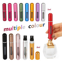 Garrafa cosmética vazia do atomizador do pulverizador dos recipientes para o curso garrafa recarregável portátil do perfume de 8ml 5ml mini com bomba do perfume do pulverizador