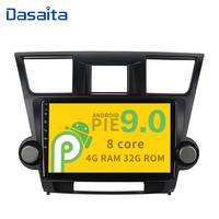 10.2 Display Android 9.0 car navigation Octa Core 4G RAM 32G ROM stereo multimedia player for Toyota Highlander 2010 2011 2012