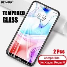 2 uds cristal templado completo para xiaomi Redmi 8 Protector de pantalla 2.5D 9h vidrio templado para xiaomi película protectora Redmi 8
