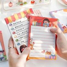 100 arkuszy Cartoon seria z planetami notatnik ładna dziewczyna karteczki na wiadomości Kawaii naklejki Planner Do zrobienia lista papiernicze artykuły szkolne