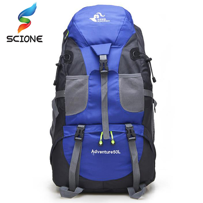 Hot 50L Large Waterproof Climbing Hiking Backpack Rain Cover Bag Camping Mountaineering Backpack Sports Outdoor Bike Bag