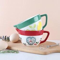 Ręcznie malowana ceramiczna miska do mieszania, miska do bicia jaj, miska do spuszczania ciasta, miska do gotowania, talerz sałatkowy, naczynie do ciasta CL102106