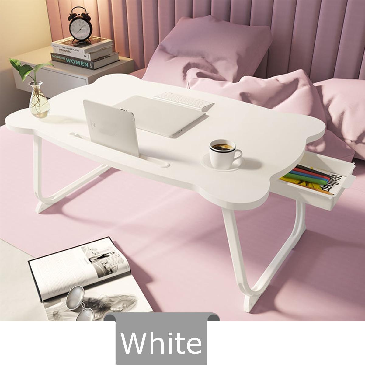 CN Multi-functional Folding Laptop Stand Holder Study Table Desk Wooden Foldable Computer Desk for Bed Sofa Tea Serving Table