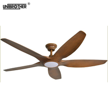 64 Inch luxury Nordic Ceiling Fans 5 Blades wooden American retro remote ceiling fan creative wood