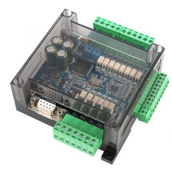 цена PLC Industrial Control Board Motor Controller FX3U-14MT Analog 6AD+2DA 24V 1A with shell and RS485 RTC Real онлайн в 2017 году