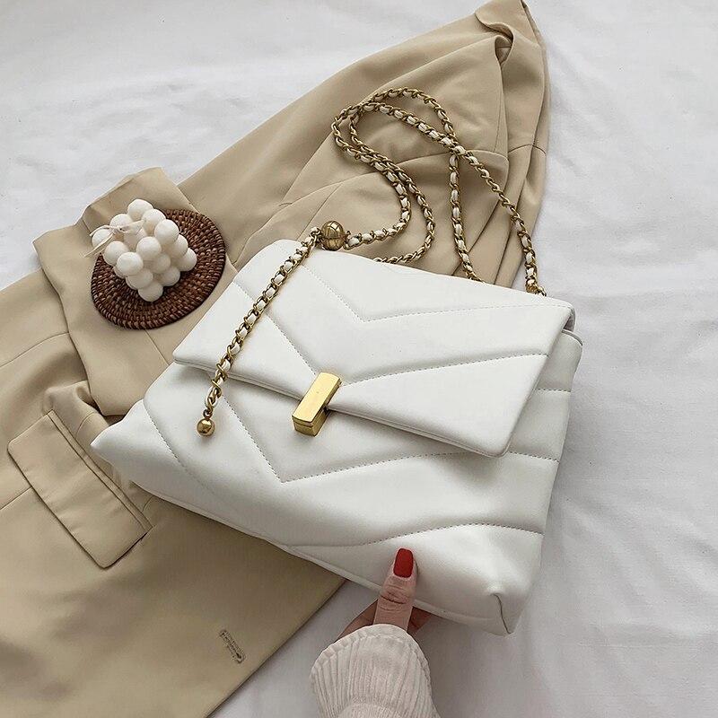 Élégant femme grand sac fourre tout 2020 mode nouvelle haute qualité en cuir PU femmes concepteur sac à main chaîne épaule sac de messager  