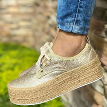 Casual Woman Sneakers Large Size 43 Solid Shallow Superstar Cozy Canvas Shoes Women Lace Up Platform Hot Sale