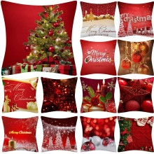 Christmas Pillow Case Glitter Polyester Sofa Throw 2019 New Fashion type Cushion Cover Home Decoration dropshipping #22