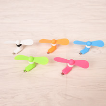 Mini Tragbare Micro USB Fan Hand Fans Für Samsung HTC Android OTG Smartphones USB Gadget Micro USB port Fan(China)