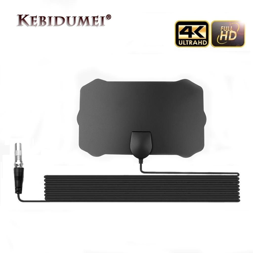 Kebidumei 200 Mile Faixa de Cabo de Antena de Sinal de TV Digital HD 1080P 4K HDTV Com Amplificador de Antena Digital Indoor reforço de sinal