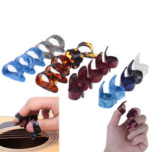 Heißer! 10 stücke Gitarre Daumen Und Zeigefinger Pick Vermittler Cellul Ul Daumen Finger Abholen Gelegentliche Farbe Gitarre Zubehör