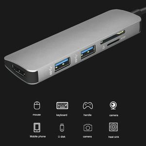 Image 2 - ฮับUSB C HUB HDMI USB 3.0 SD/TF Card Readerอะแดปเตอร์สำหรับMac Book Proอุปกรณ์เสริมUSB CประเภทC Splitter 2พอร์ตUSB HUB