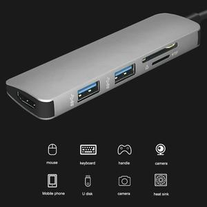 Image 2 - USB C HUB HUB To HDMI USB 3.0 SD/TF Card Reader Adapter for Mac Book Pro Accessories USB C Type C  Splitter 2 Port USB HUB