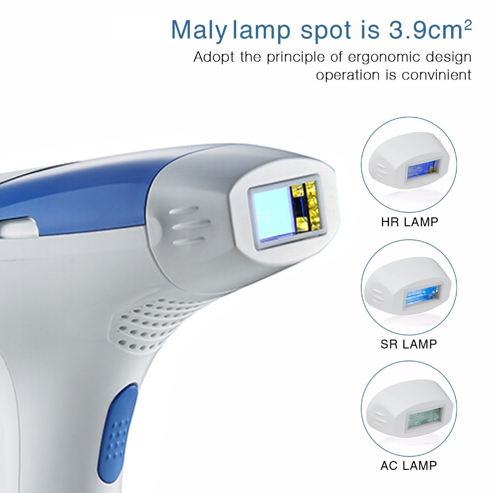 Mlay Epilator Hair-Removal-Machine 500000 Laser Flashes Electric Face-Body-3in1