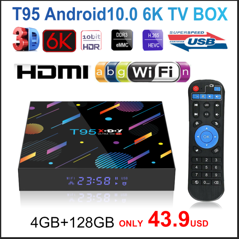 2020 T95 XGODY H616 Smart TV Box Android 10 10 0 4GB 32GB 64GB 128G 4K HD Youtube Media Player Netflix TV 2 4G amp 5G Set Top Box