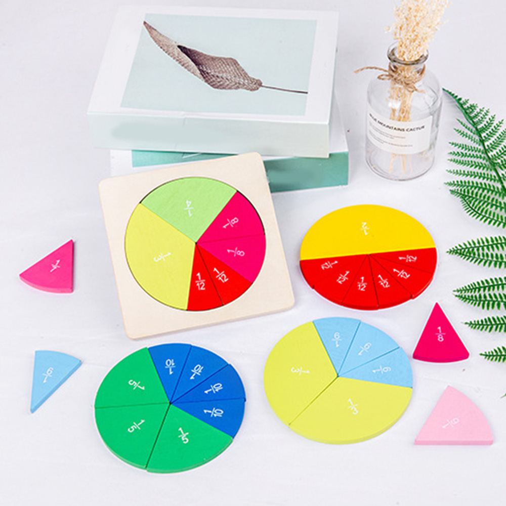 Puzzle game Mathematics Fraction Board Division Teaching Aids Education Math Toy Children Learning Tool Toy