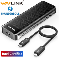 Intel Certified USB C Thunderbolt 3 NVME SSD Enclosure Type-C Case M-Key NVMe connector Excellent Dissipation for Window Mac OS
