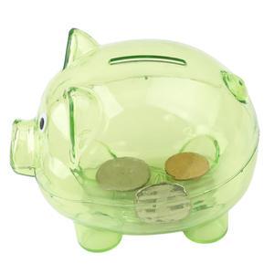 Case Money-Box Transparent Kawaii Coins Piggy-Bank Plastic Toy Gift Pig-Shaped Children's