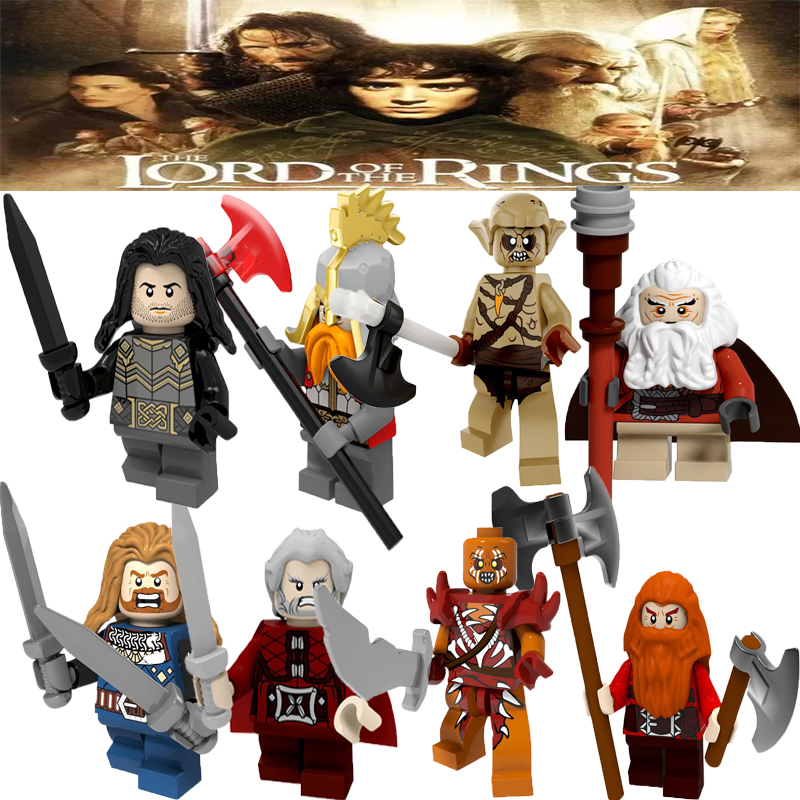 Building Blocks Legoinglys Lord Of The Rings Series Characters Figures Philip Iron Foot Dan Kellett Ouyin Duoli Kids Toys PG8183