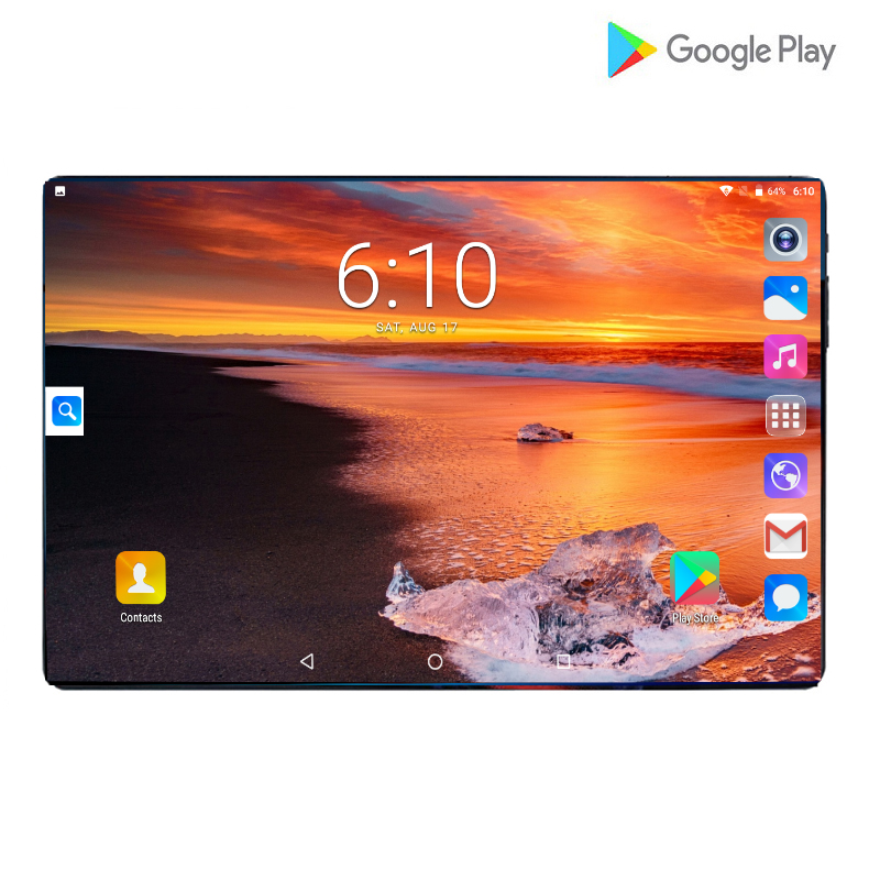 Fast Shipping 4G LTE 10 Inch Tablet Pc Android 9.0 Core 6GB+64GB 2.5D IPS Screen Dual SIM Cards WIFI Smart Video Tablets 10.1